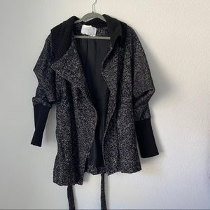 A.L.C Wool Asymmetrical Zip Coat Sz 6